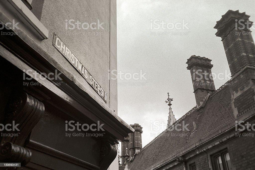 Christmas Steps, Bristol's shopping street royalty-free stock photo