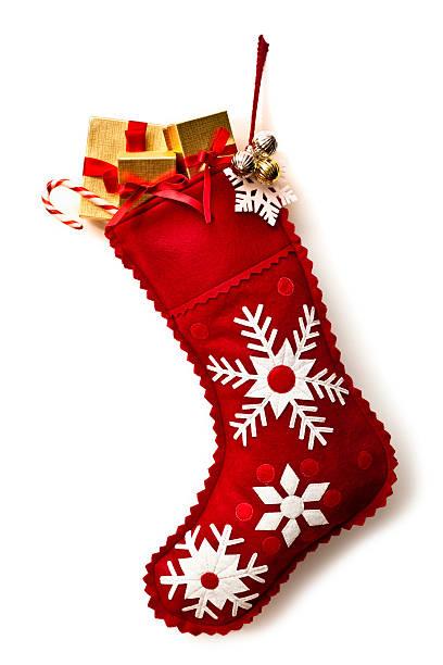 Christmas Stocking Christmas Stocking, isolated on white. christmas stocking stock pictures, royalty-free photos & images