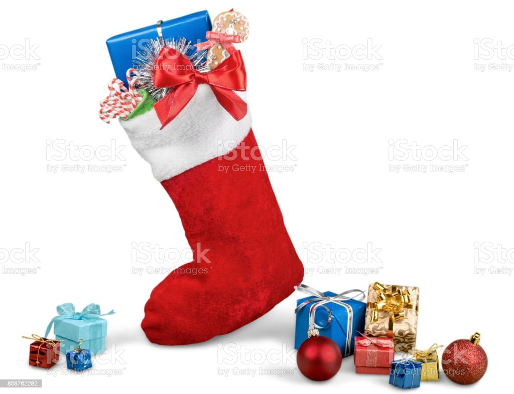 Christmas stocking. stock photo