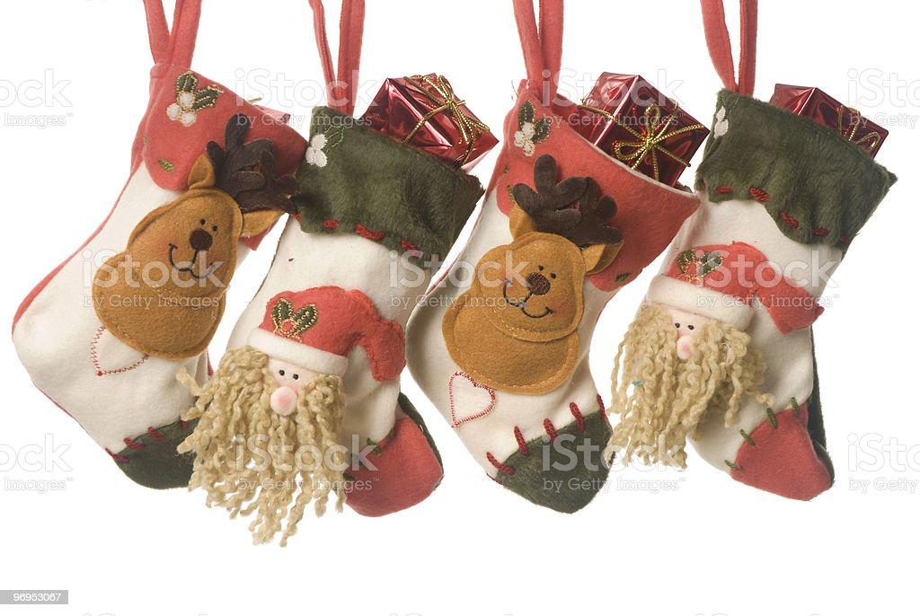 Christmas stockings royalty-free stock photo
