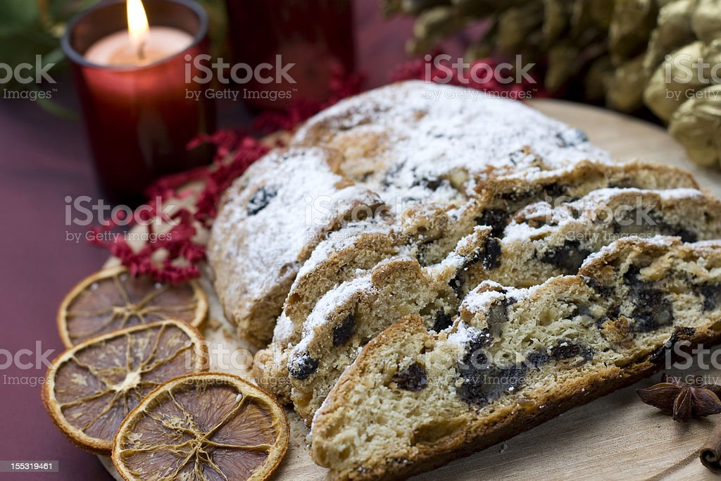christmas stollen royalty-free stock photo