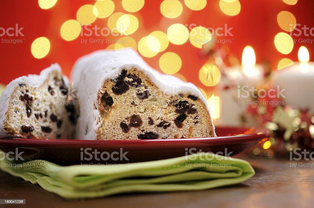 Christmas Stollen royalty-free stock photo