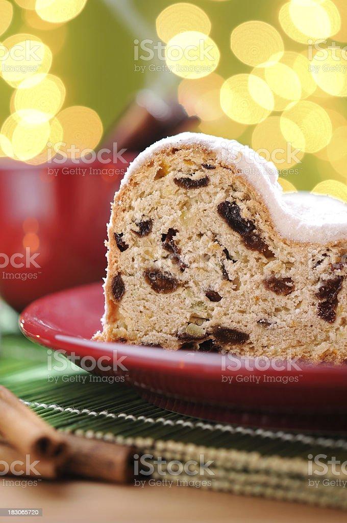 Christmas Stollen With Cinnamon Tea royalty-free stock photo