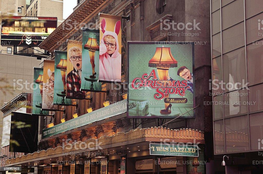 Christmas Story on Broadway, New York City royalty-free stock photo