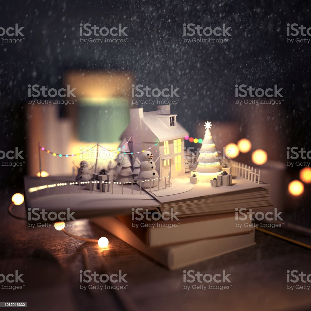Christmas Story Pop Up Book stock photo