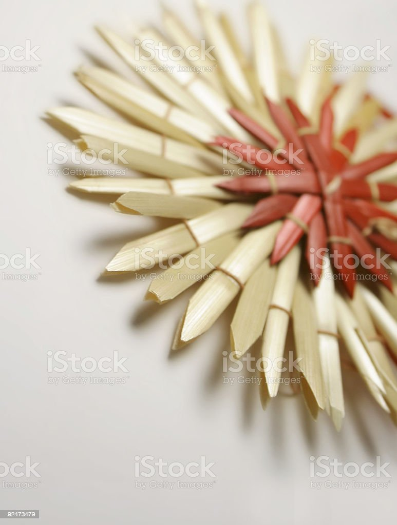 christmas straw star macro stock photo