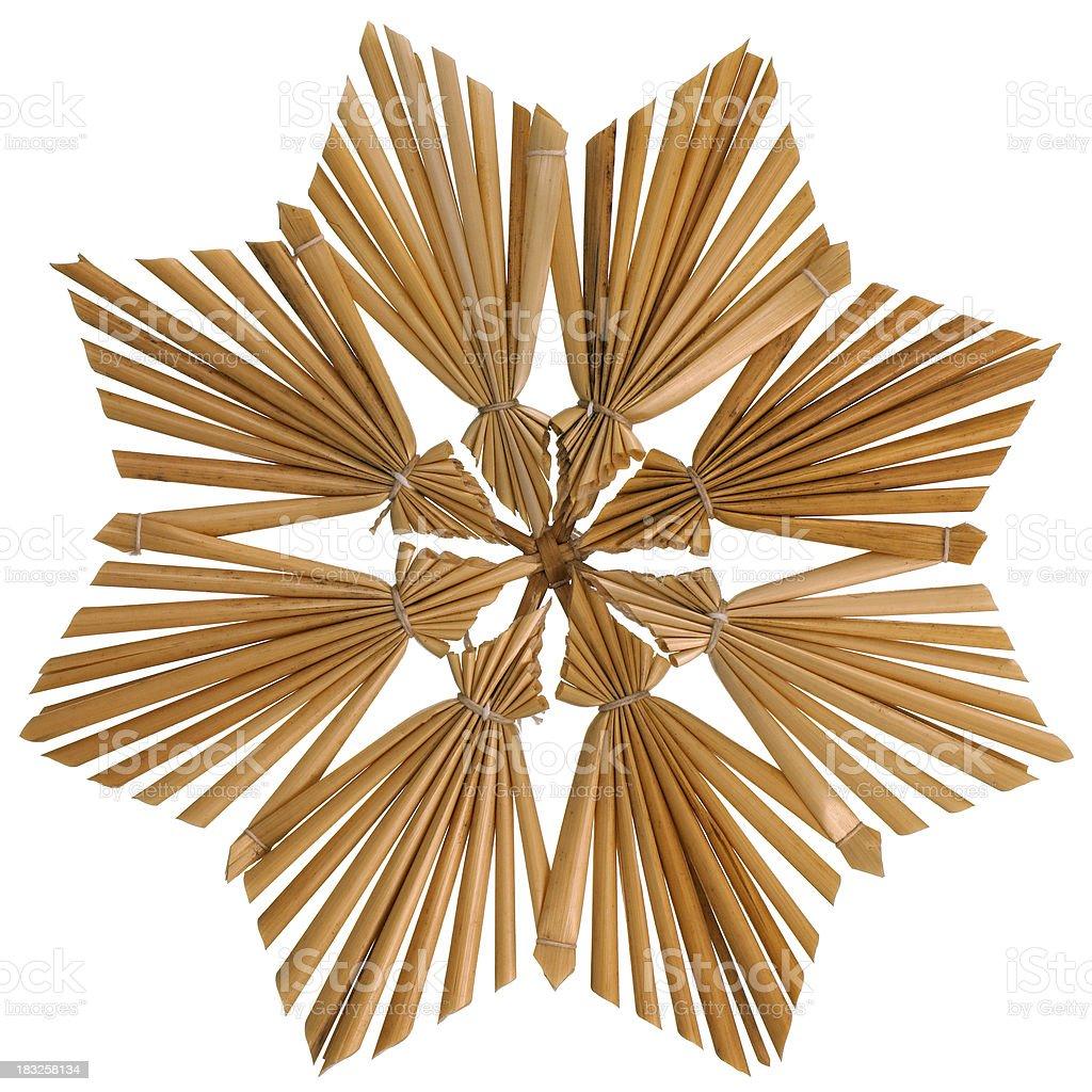 christmas straw window ornament stock photo