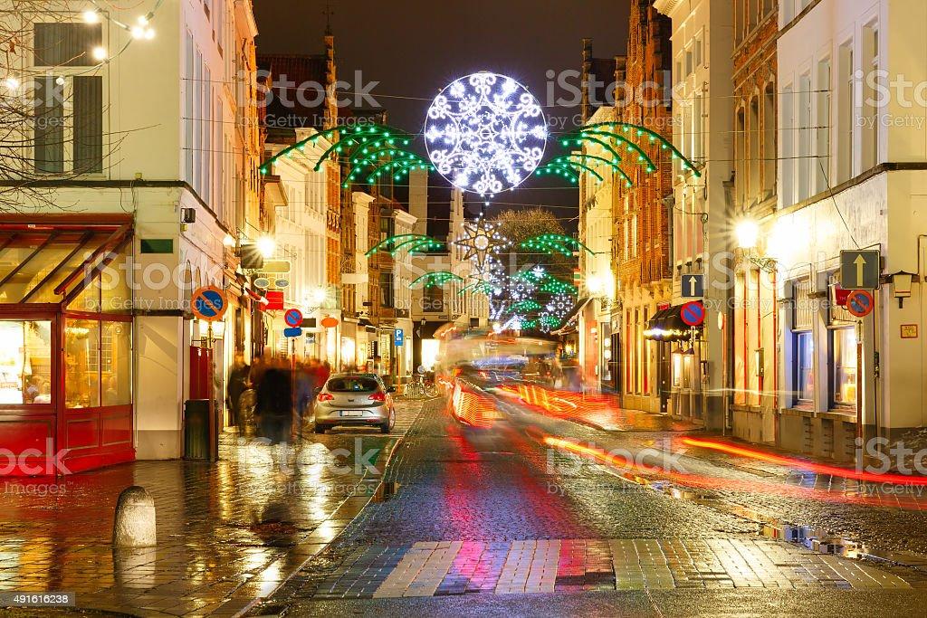 Noël street à Bruges, Belgique - Photo