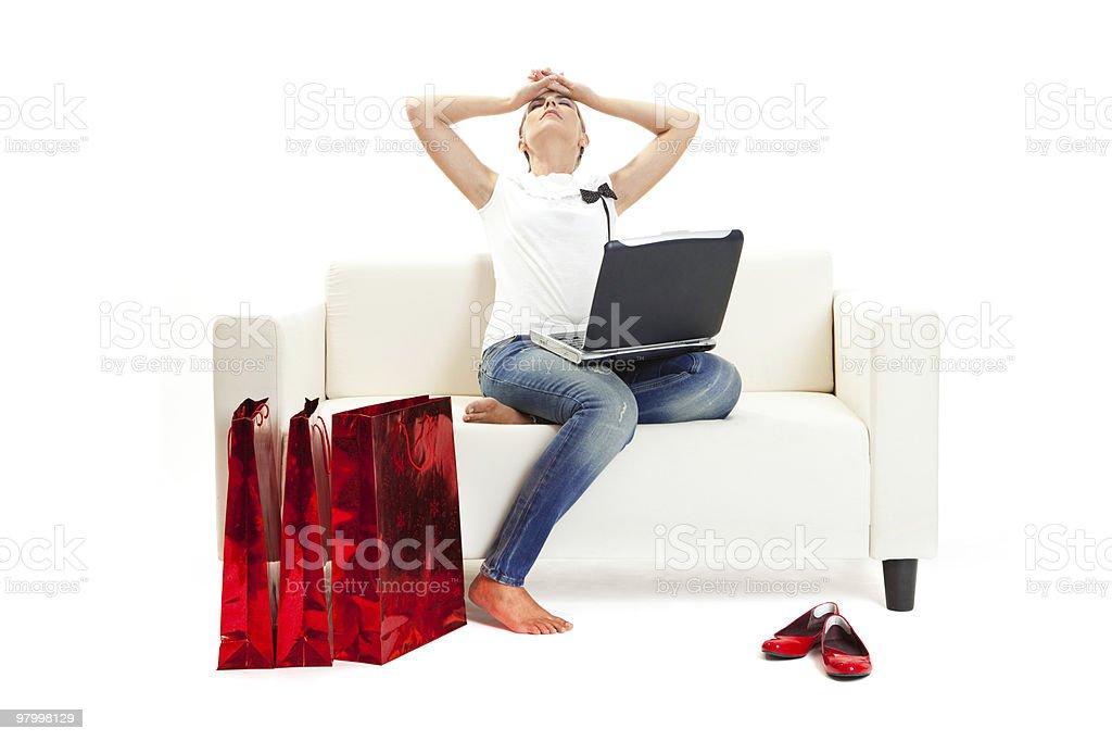 Christmas Stress royalty free stockfoto