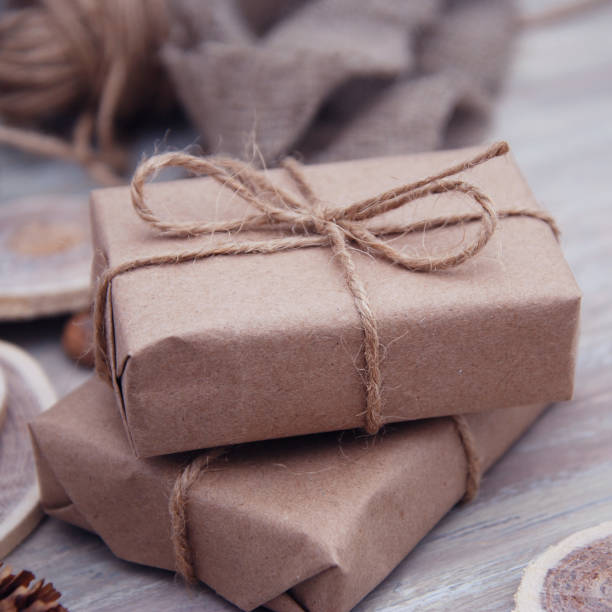 Top Royalty Free Brown Paper Packages Tied Up With String Pictures  VP24