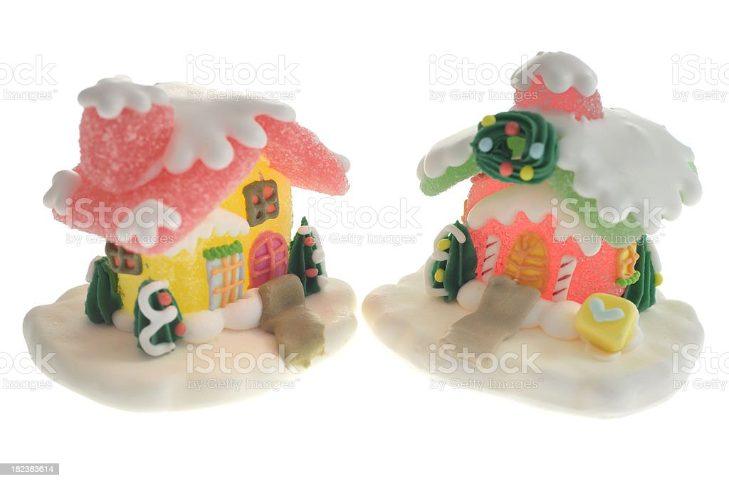 Christmas Sugar Candy Houses. Series. royalty-free stock photo