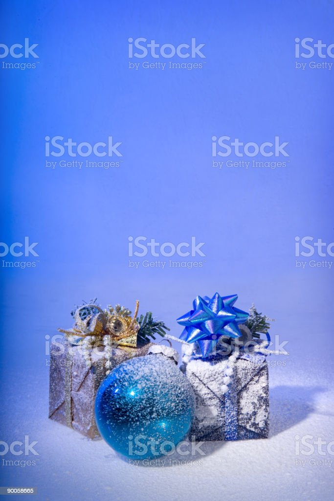 Christmas surprise on a snow royalty-free stock photo