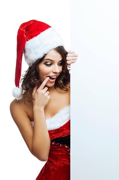 weihnachtsüberraschung - elfenkostüm damen stock-fotos und bilder