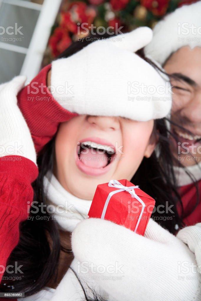 Smiling couple celebrating the holiday