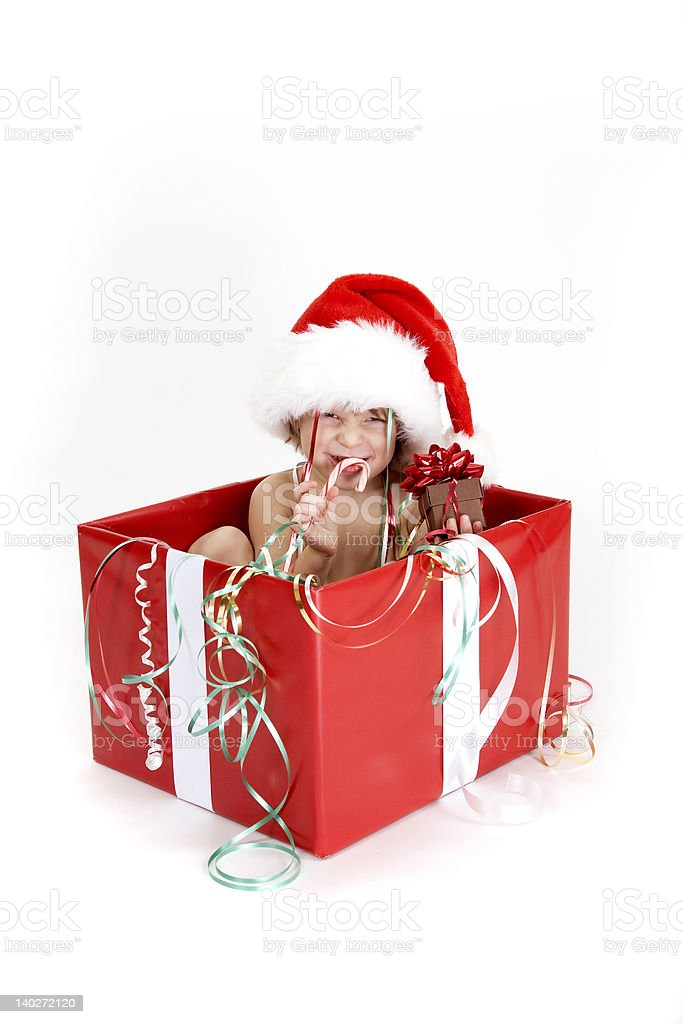 Christmas Surprise - series royalty-free stock photo
