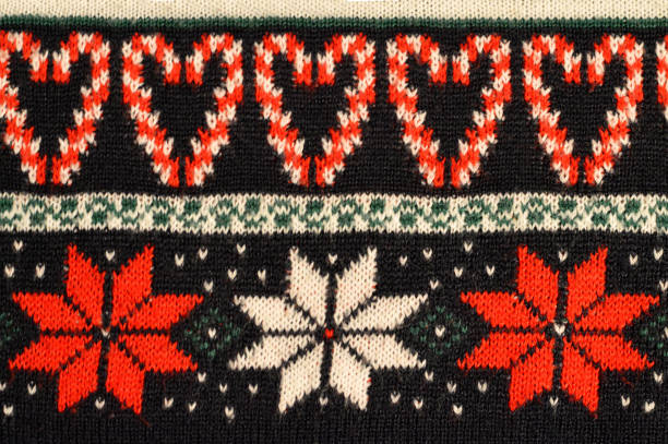 christmas sweater design stock photo