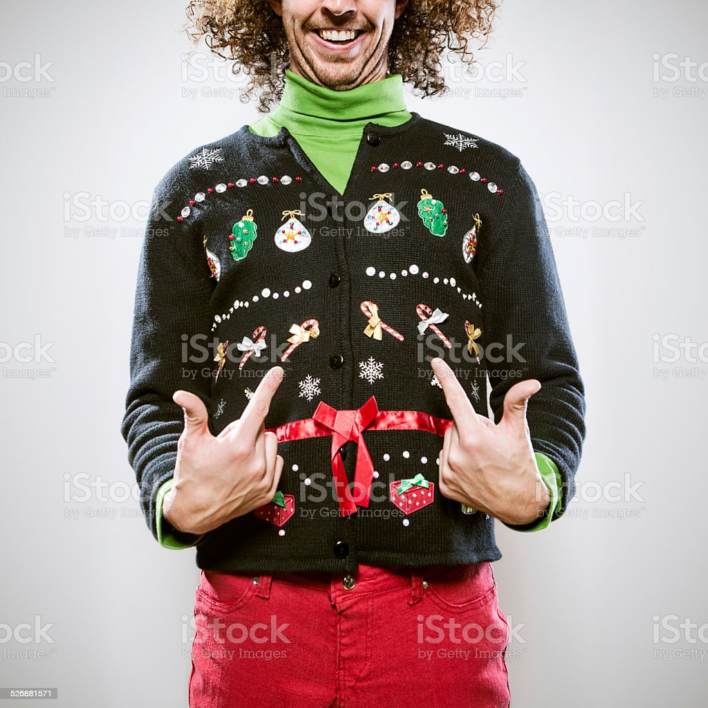 Christmas Sweater Mann – Foto