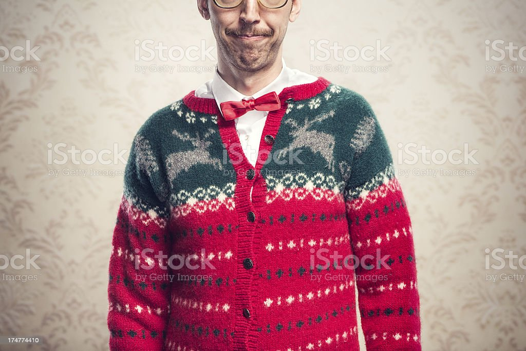 Nerdy Christmas Sweater.Christmas Sweater Nerd Stock Photo Download Image Now Istock