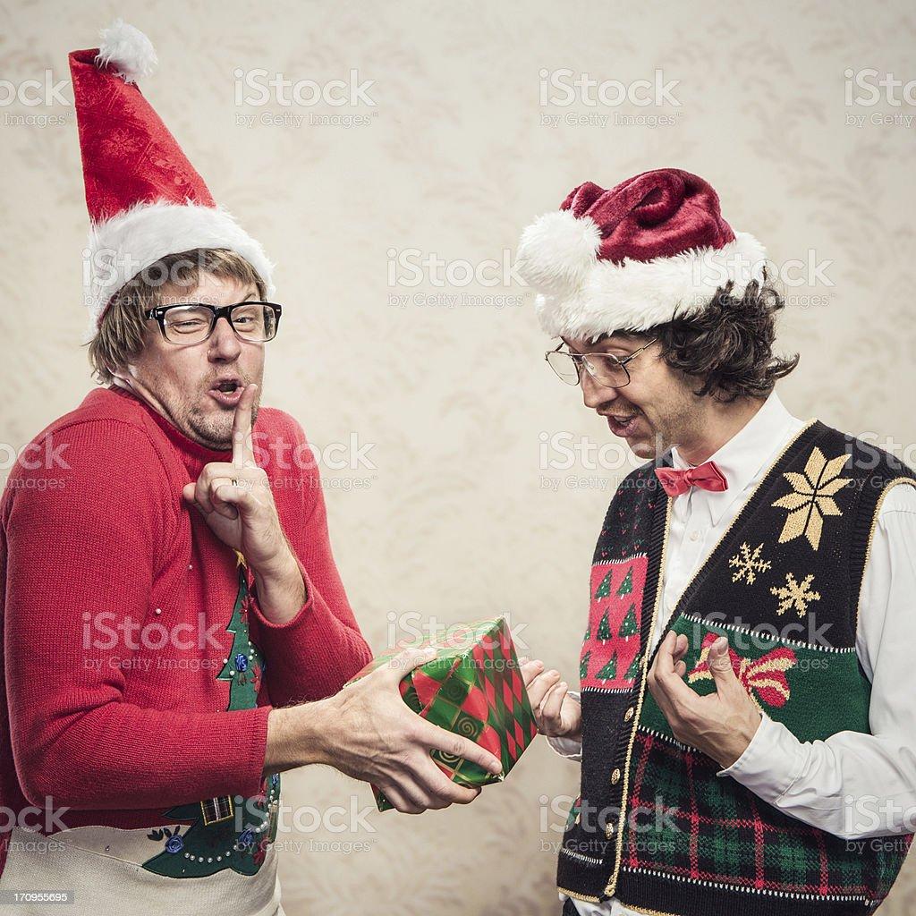 Christmas Sweater Nerds stock photo