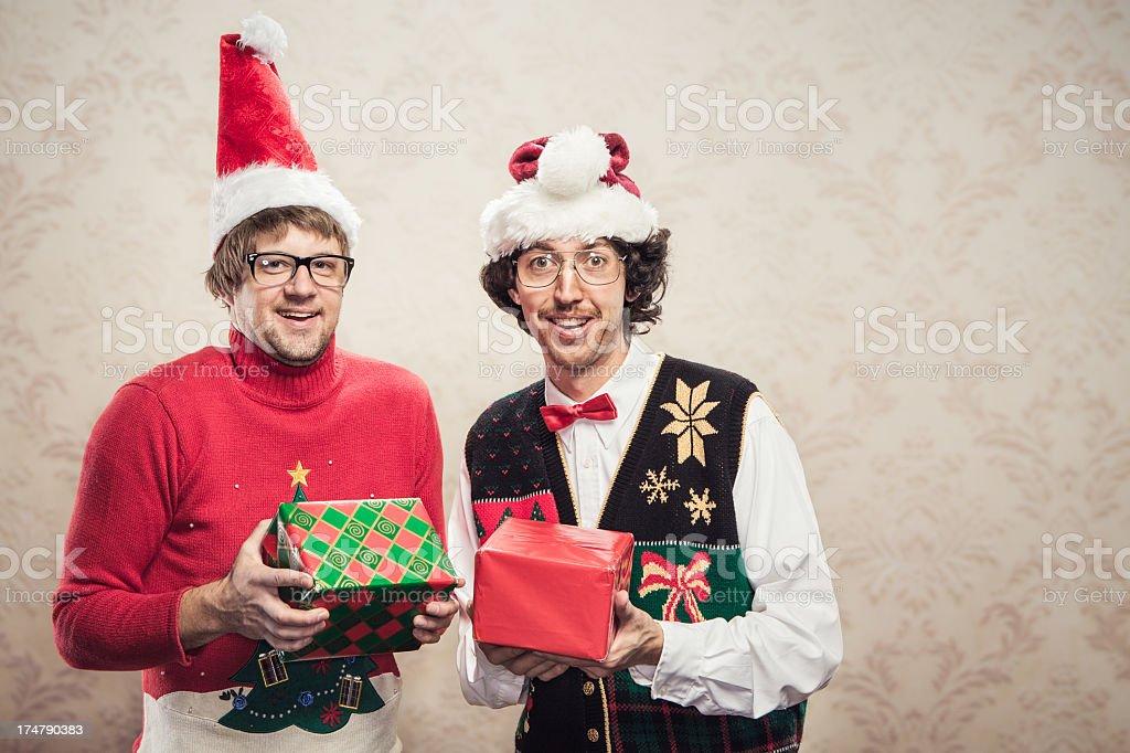 Christmas Sweater Nerds royalty-free stock photo