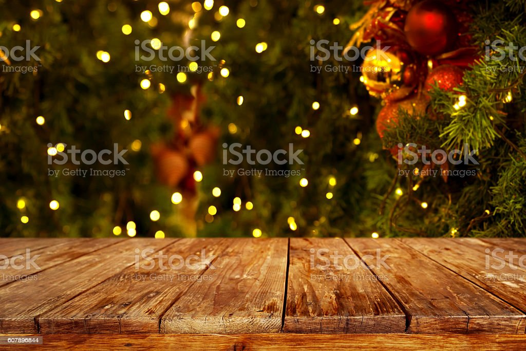 christmas table background stock photo