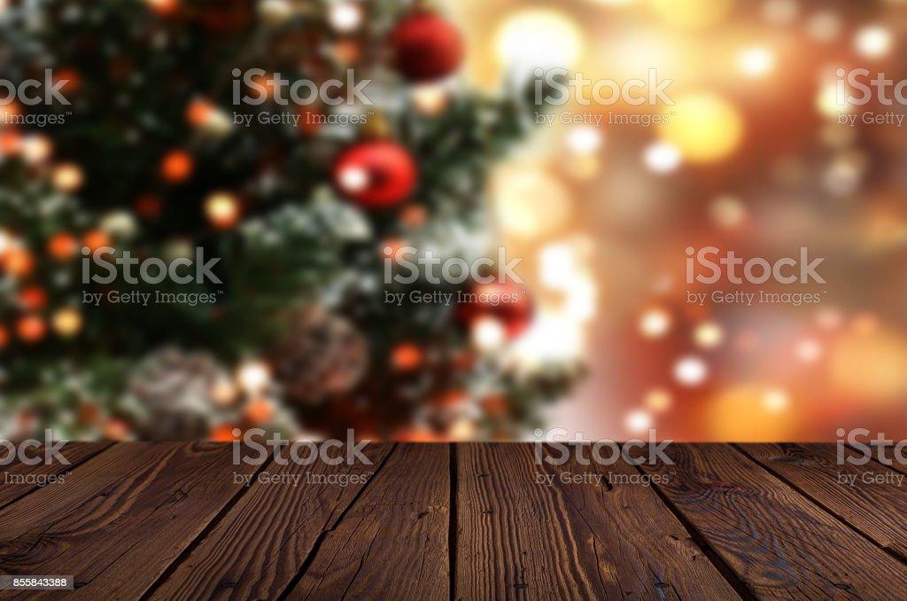 Fundo de mesa de Natal - foto de acervo
