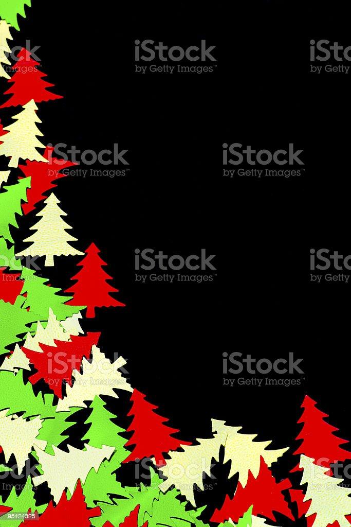 Christmas table Konfetti auf Schwarz Lizenzfreies stock-foto