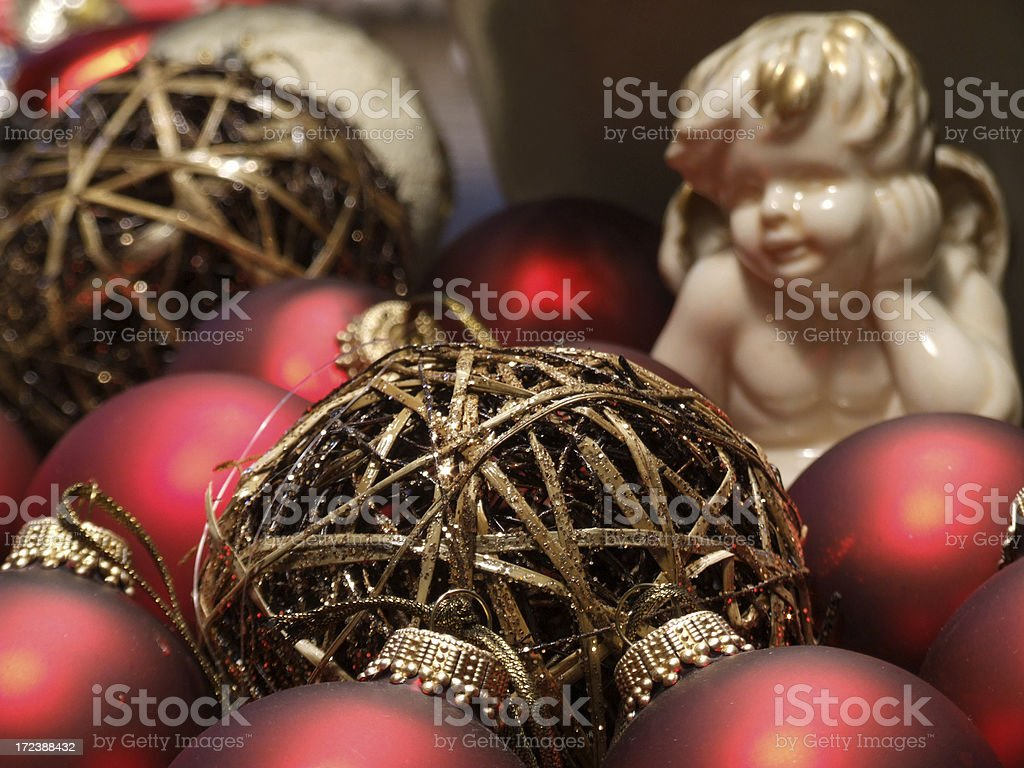 Christmas table decoration royalty-free stock photo