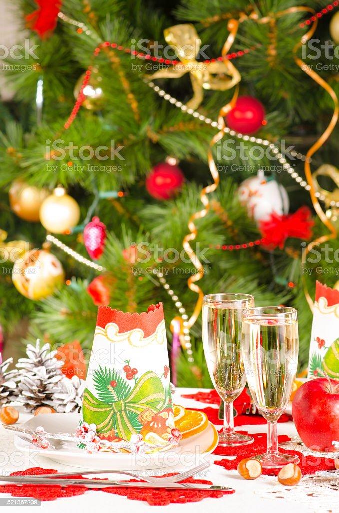 Mesa de Navidad foto de stock libre de derechos