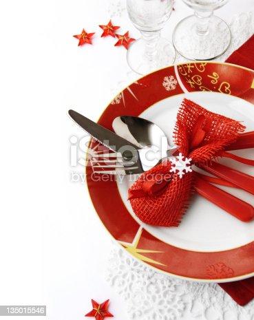 istock Christmas table setting 135015546