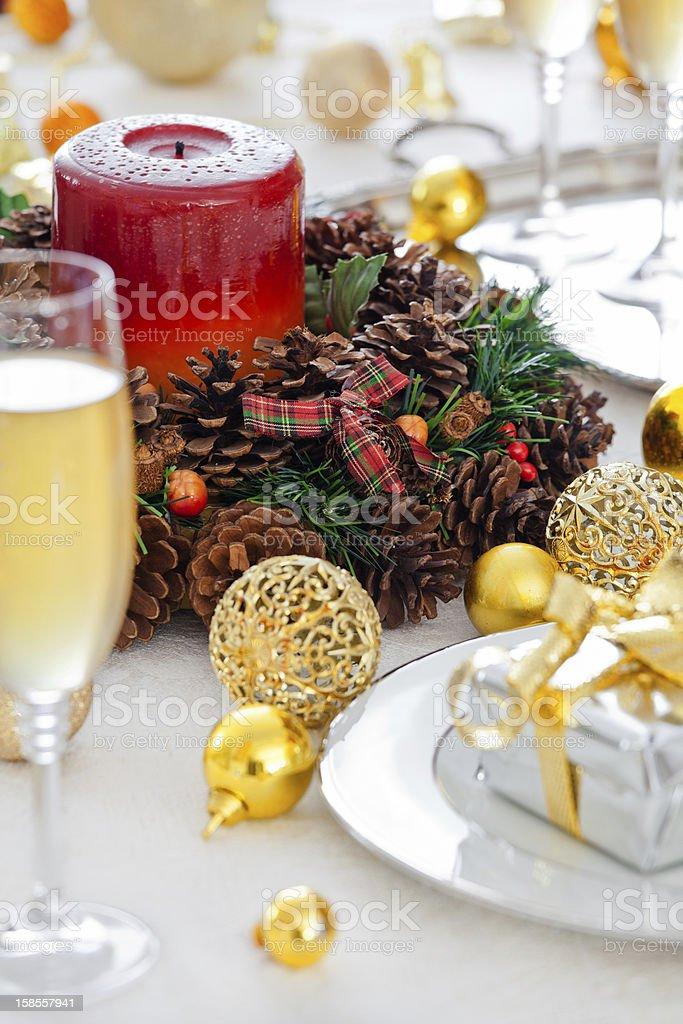 크리스마스 표 설정 royalty-free 스톡 사진
