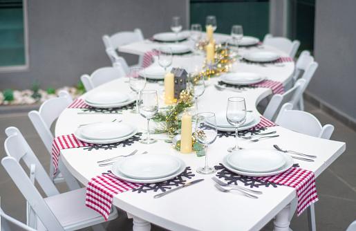 Christmas Table Setup Stock Photo Download Image Now Istock