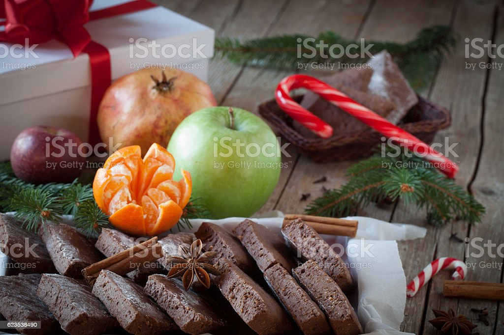 Christmas Table With Sweets stock photo