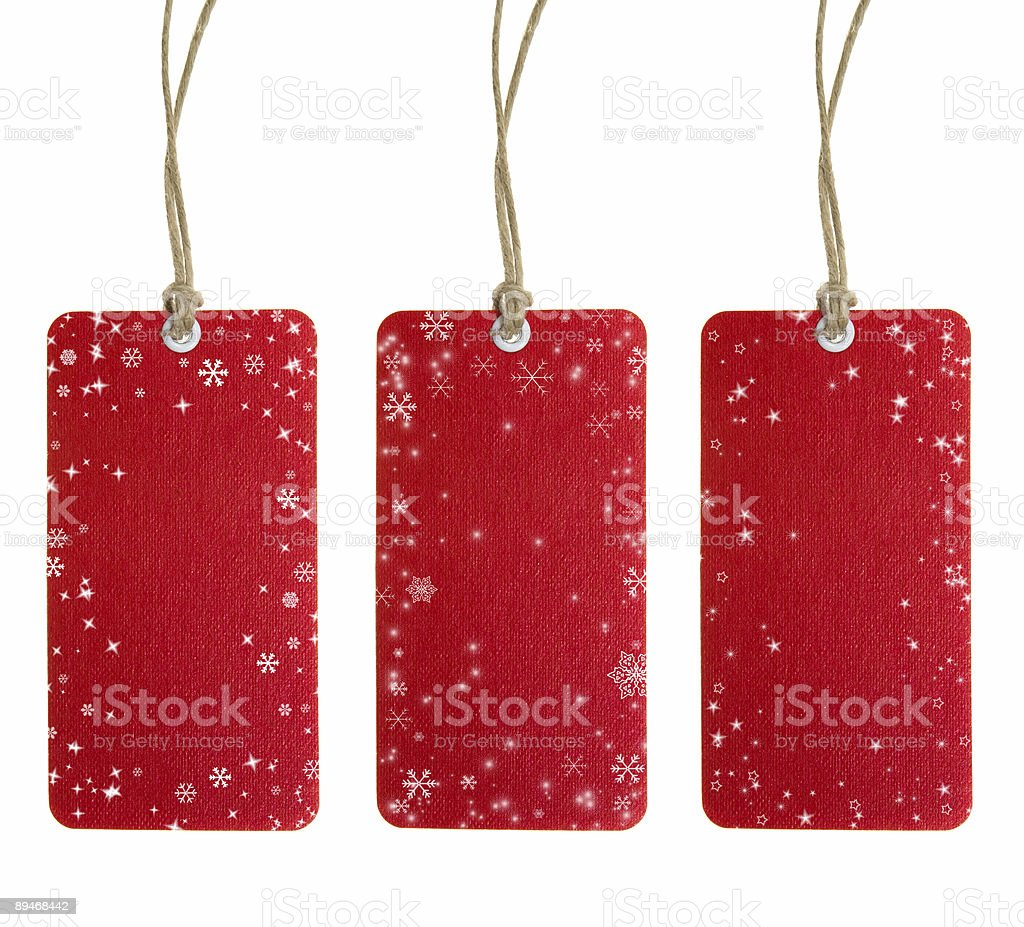 Рождественские теги набор один Стоковые фото Стоковая фотография