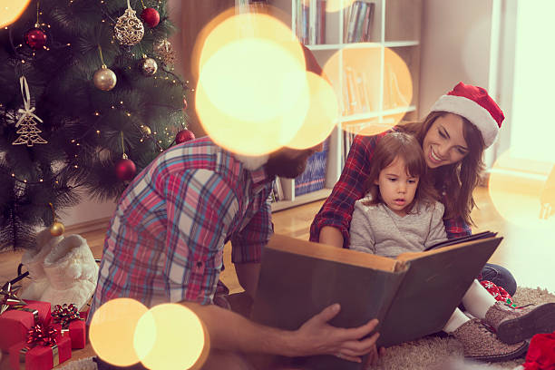 weihnachten-geschichte - nikolaus geschichte stock-fotos und bilder