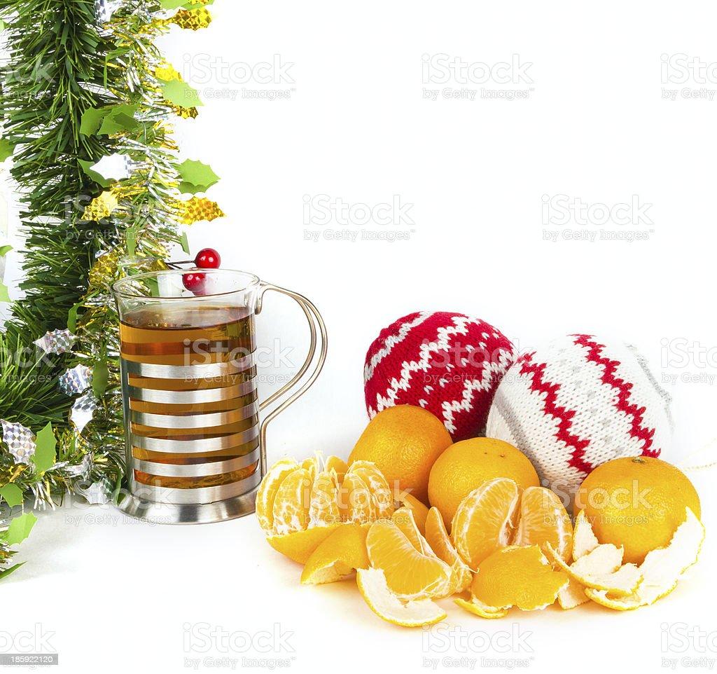 Christmas tea royalty-free stock photo