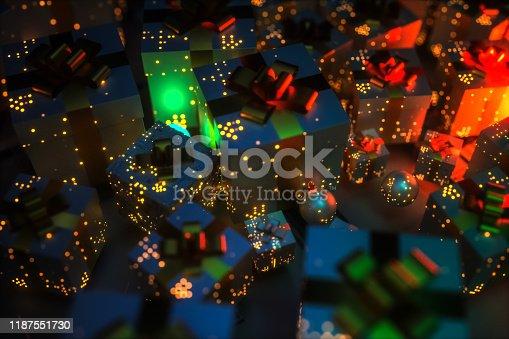 Christmas tree techonology backgrounds