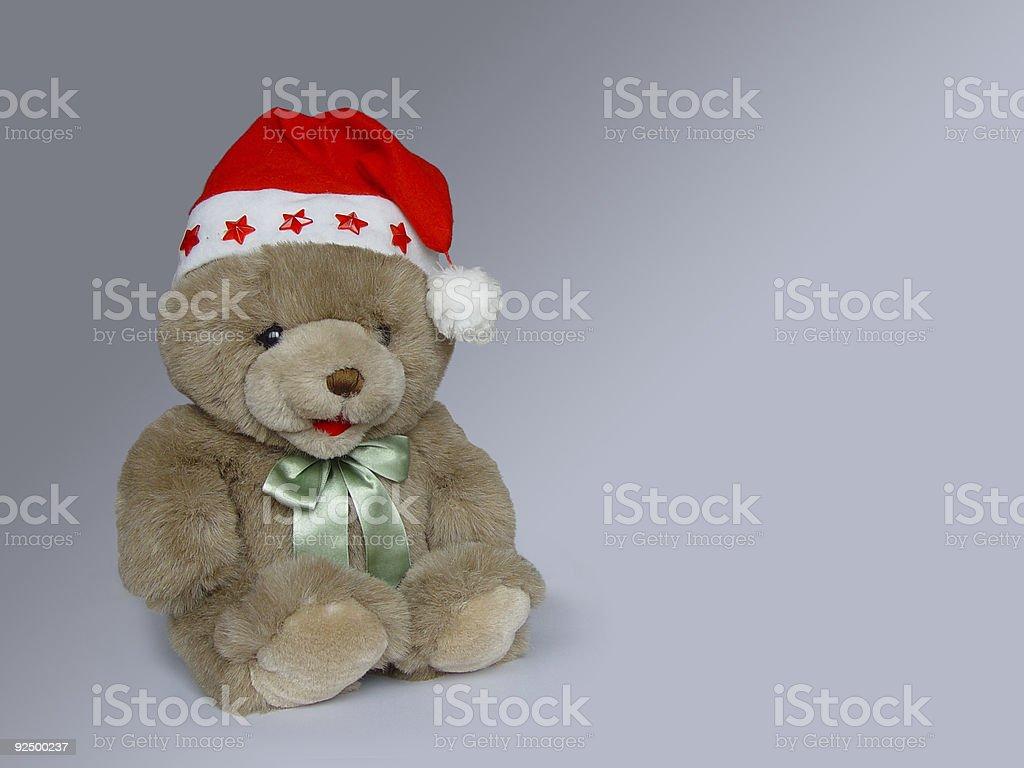 Christmas teddy royalty-free stock photo