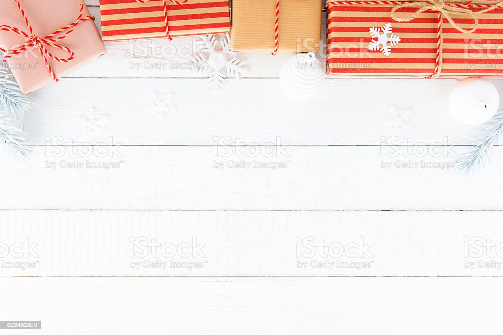Christmas theme background with copy space stock photo