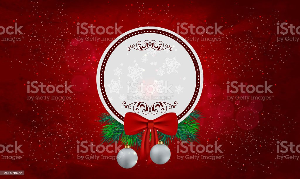 Christmas theme red background with Copy space stock photo