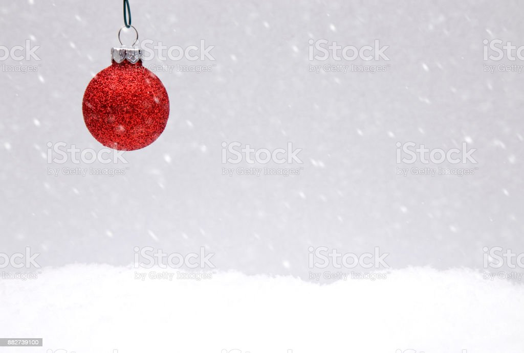 Christmas Themed Background In The Snow Stock Photo More Pictures