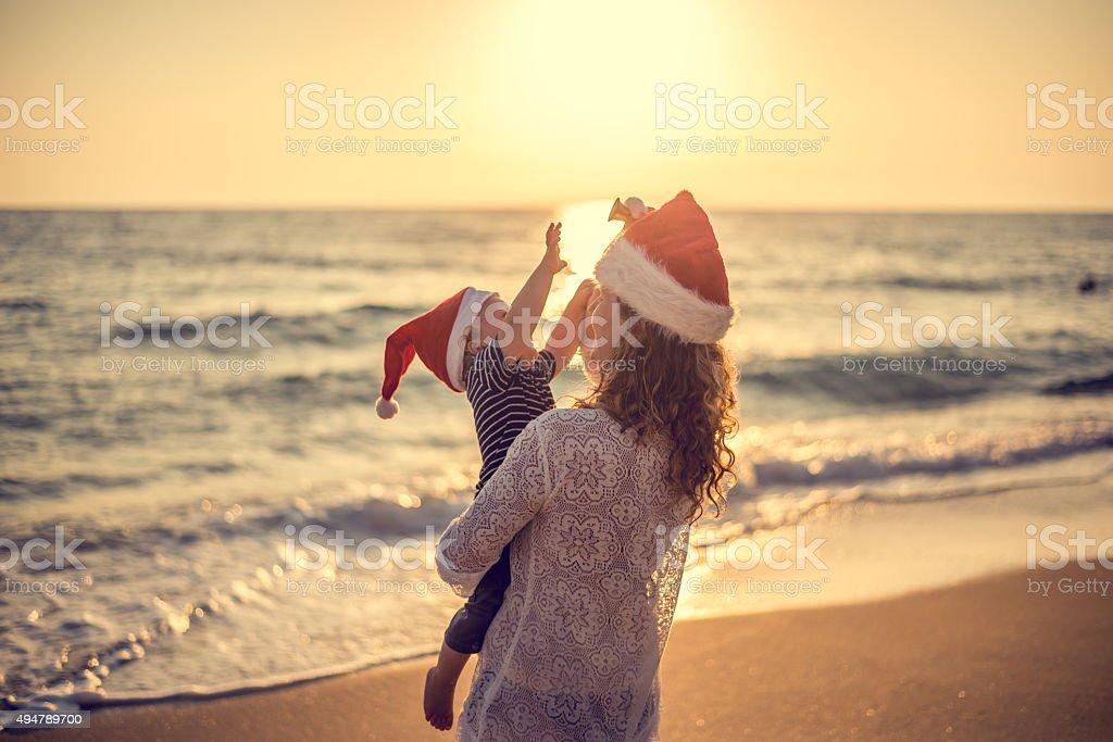 Weihnachten Zeit am Strand – Foto