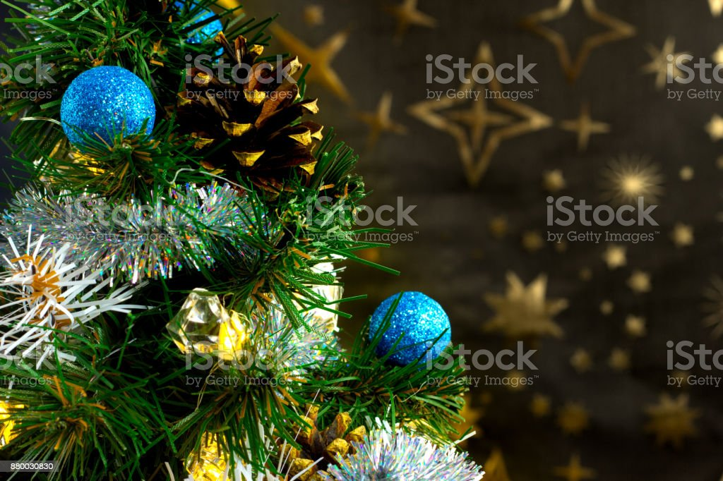 Christmas Time Christmas Tree And Snow Stock Photo More Pictures