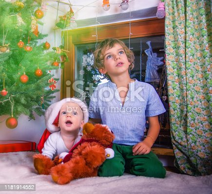 istock Christmas Time for Two Brothers 1181914552