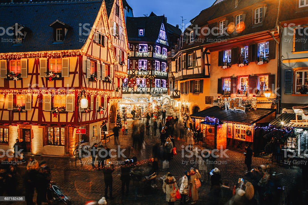 Christmas time in Colmar, Alsace, France - foto stock