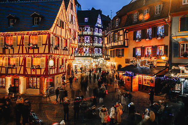 Christmas time in Colmar, Alsace, France ストックフォト