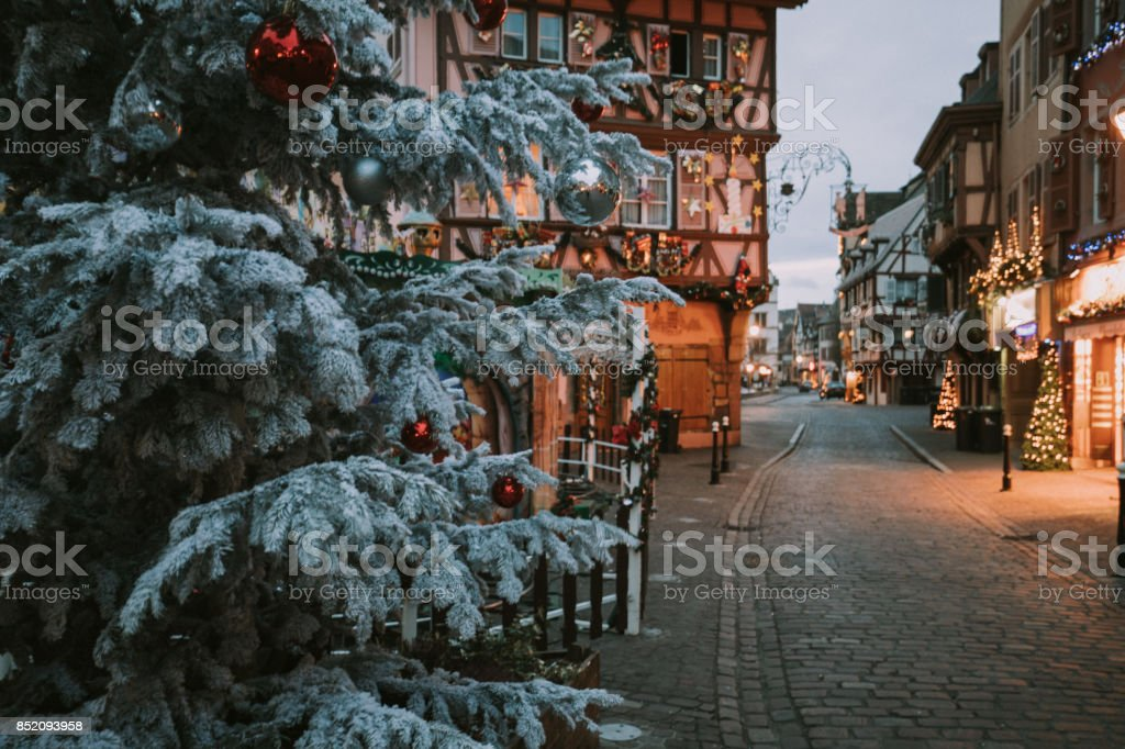 Christmas time in Colmar, Alsace, France stock photo