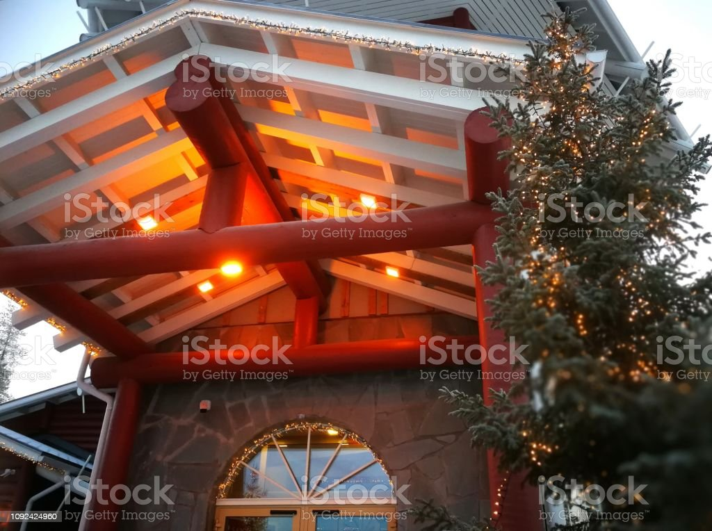 Christmas time in Finland stock photo