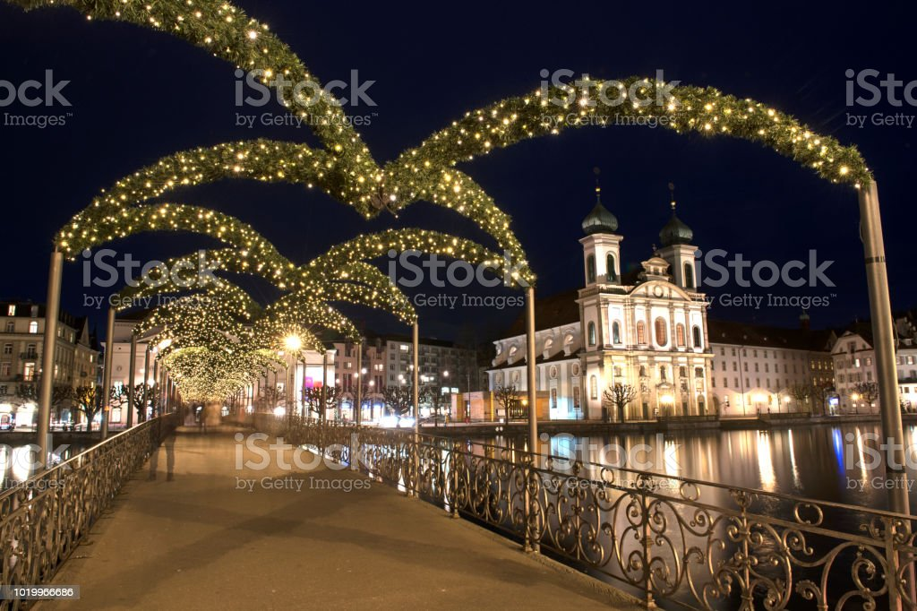 Christmas time in Lucerne stock photo
