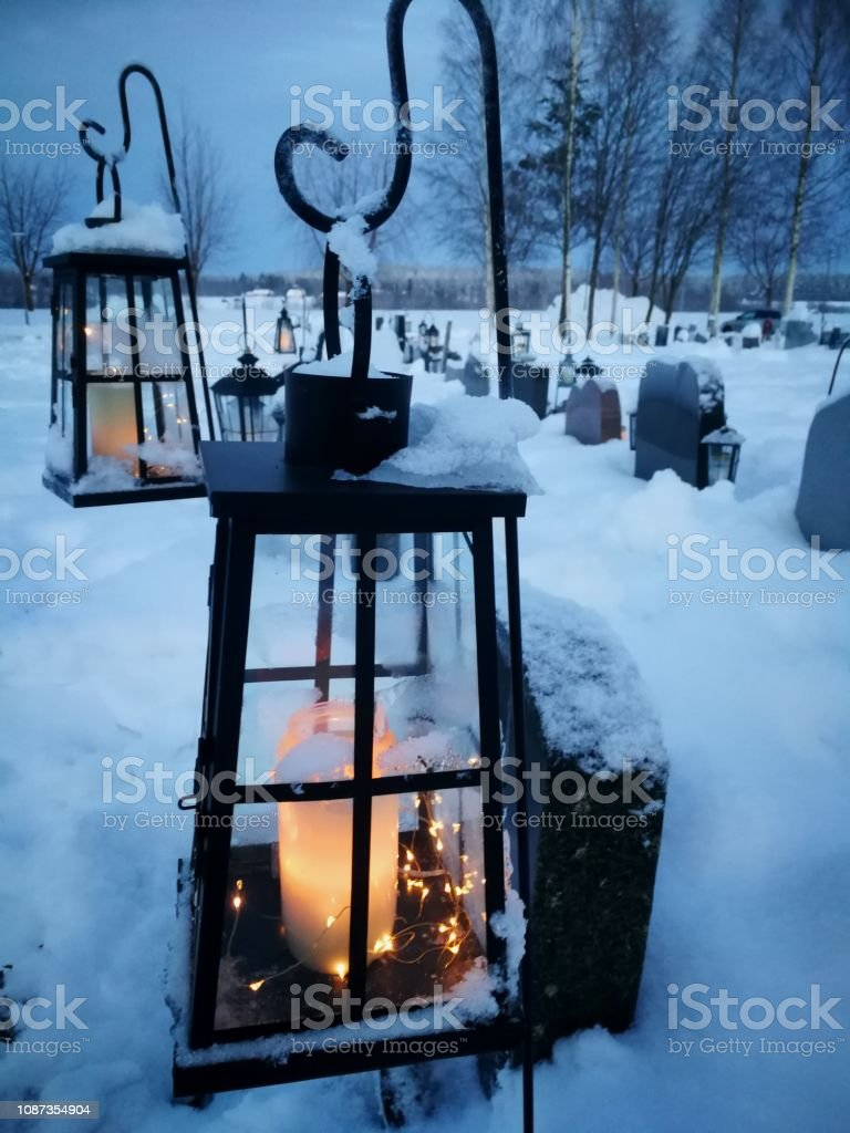 Christmas time in the North of Sweden stock photo
